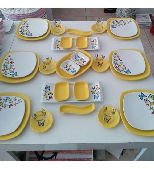 35 prc Butterfly Kahvaltı Takımı