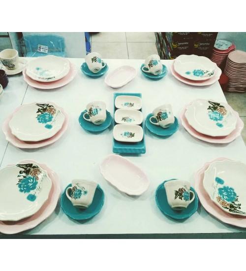 6 Kisilik Gul Trend Kahvaltı Takımı